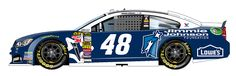 """#48 Jimmy Johnson Foundation/Lowe's Chevy,looking to end last months racing luck,needs good finish!6X needs to """"git 'er,done!!"""""""