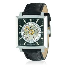 Saint Honoré Orsay Steel Watch With Black Crocodile Print Leather Strap featured in vente-privee.com