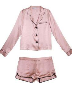 Chic PJs for fashion girls. Fleur Du Mal PJ Set $375