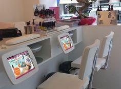 Funny nail salon names. Nail Salon Design, Nail Salon Decor, Beauty Salon Design, Salon Decorating, Decorating Ideas, Nail Salon Names, Nail Saloon, Nails Bar, Nail Room