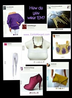 """This week's """"How do you wear 'EM?"""" features the newest addition to the Just Once series... the """"Regal Sparkle"""" bow tie. Other Fashion Forward#Etsyshops that add flair to the outfit are ...Off shoulder blouse> https://www.etsy.com/shop/Dare2bStylish ...White Skinny Pants> https://www.etsy.com/shop/NchicStyle ...Purple Booties> https://www.etsy.com/shop/MonikaJayVintage ...Gold earrings> https://www.etsy.com/shop/YOUarewhatyouDREAM ...Gold & Amethyst bracelet…"""