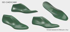 """3D CAD/CAM моделирование обувных колодок для производства и пошива обуви. Все мужские и женские колодки моделируются с """"нуля"""", не требуя оцифровки ранее существующих физических колодок. На данный момент - это уникальная, единственная в своём роде технология. http://gerasinobuv.ru/fason-kolodki"""