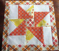 "Oct SDQB block 2 | Katie Jump Rope Fabric -12.5"" block | Melissa | Flickr"