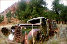 Rusty truck on mountain side. Taken by Tracie-Ruth Kriete