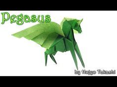 Origami PEGASUS by Hojyo Takashi (part 1 of 2)- Yakomoga Origami tutorial - YouTube