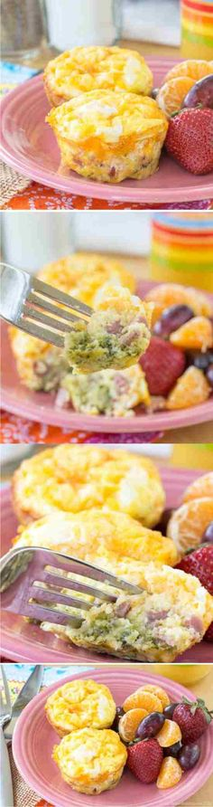 Broccoli, Ham and Cheese Egg Muffin Cups - baked, black pepper, breakfast, broccoli, cheddar, cheese, cooking, cups, egg, ham, healthy, muffin, mustard, recipes