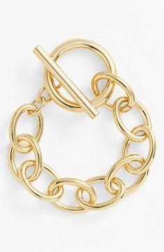 Lauren Ralph Lauren Link Toggle Bracelet.
