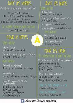"""Point grammaire : la préposition""""à"""""""