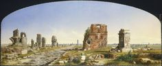 A painting by John Linton Chapman called The Appian Way, painted in 1869. What is it depicting?