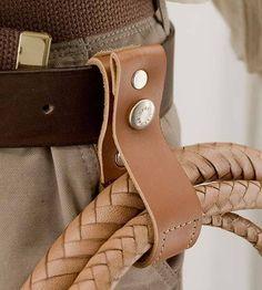 Indiana Jones Style Belt Whip Holder