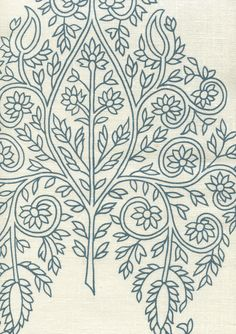 Taj_navy_on_cream_HC1480C_03_2400.jpg (2400×3400) quadrille fabrics