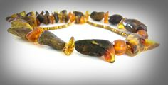 Amber Necklace Adult Natural Genuine Raw Baltic Amber от GECHELINE