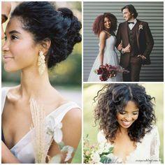 Beleza negra | Inspirações de penteado e maquiagem para noiva