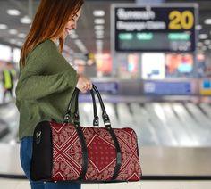 Bandana Styles, Red Bandana, Waterproof Fabric, Travel Bags, Plum, Shoulder Strap, Vibrant, Tote Bag, Printed