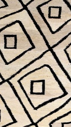 "(detail) 5'6"" x 7'3"" Flat weave rug; natural with diamond on diamond pattern $1090. #DH839"