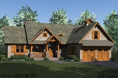 Plan-4741, the Verona House Plan is 2074 sq feet and features 3 BR and 3.5 BA. A little big but I like it!