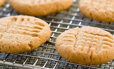 peanut butter cookies:  calls for 1 cup peanut butter, 1 cup sugar, 1 teaspoon vanilla, and one egg --- heat oven to 350  spoon the dough and criss-cross with fork.   Bake for 15-20 minutes