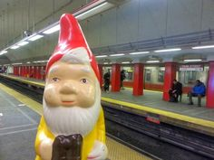 the boston garden gnome: on the T/Red Line/Park Street Station