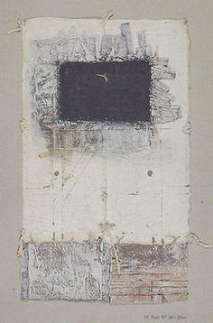 takahikohayashi: D-10.Sep.1987paper making, painting, collage on paper 林孝彦 HAYASHI Takahiko 1987