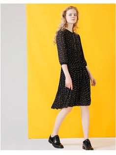 new in 2017 fashion clothing autumn collection outfit trend dress Fashion 2017, Fashion Outfits, Trend Dress, Chiffon Dress, Korean Fashion, Dots, Autumn, Clothes For Women, Trending Outfits
