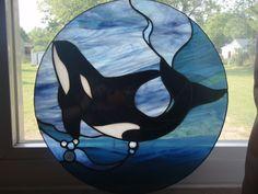 Killer Whale Stainglass
