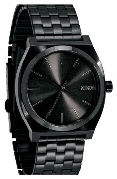 "Nordstrom  ""Nixon 'The Time Teller' Stainless Steel Bracelet Watch"