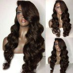 Long Side Part Loose Body Wave Lace Front Human Hair Wig