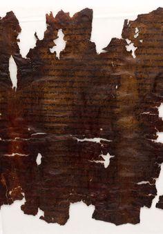 The Dead Sea Scrolls: Isaiah Scroll, Manuscript B  Jerusalem, The Shrine of the Book, 95.57/26B  The Hebrew University of Jerusalem (owner)  MS. B (1QIsab [1Q8])  Ink on leather; 1 leaf (part of a scroll); 220 x 430mm  Bible (fragment); Hebrew  Judaean Desert, Israel; before 73 C.E.