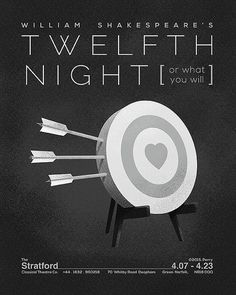 Minimalist Shakespearean Posters - by Michael Perry (Michael and Morgan Perry, KC, KC)