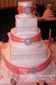 Peaches and Cream Sweet Sixteen Cake