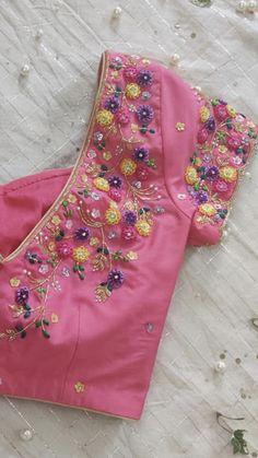 Kerala Saree Blouse Designs, Cutwork Blouse Designs, Best Blouse Designs, Simple Blouse Designs, Stylish Blouse Design, Blouse Neck Designs, Blouse Styles, Sari Design, Designer Kurtis