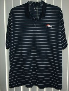 Denver Broncos Football NFL Team Apparel Polo Golf Shirt-2XL-polyester casual  Augusta b5ad60a10