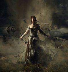 Blown Away by JaiMcFerran on DeviantArt Fantasy Images, Dark Fantasy Art, Fantasy World, Dark Art, Dark Photography, Gothic Art, Dark Beauty, Photo Manipulation, Fantasy Characters