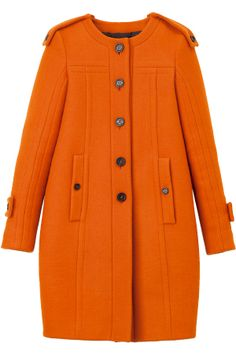 Burberry Prorsum orange coat with pockets in seams. Winter Wear, Autumn Winter Fashion, Burberry Prorsum, Burberry Coat, Winter Mode, Orange Color, Coats For Women, Mantel, Vestidos