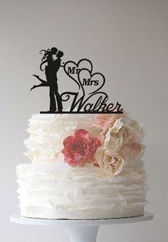 Custom Wedding Cake Topper Mr & Mrs Miller by BLACKDESIGN01