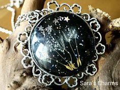 Silberkette Pusteblume unterm Sternenhimmel von Sara´s Charms auf DaWanda.com
