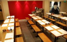 having Katsu curry in Wagamama Cork Restaurants In Dublin, Wagamama, Cork City, Kiosk, Curry, Retail, Interior Design, Studio, Table
