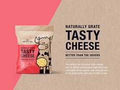 Chip Packaging, Cheese Packaging, Milk Packaging, Food Packaging Design, Happy Cow, Funny Health Quotes, Web Design, Snack Video, Health Snacks