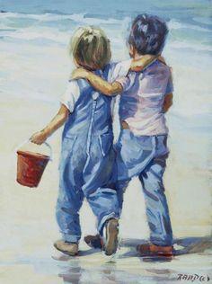 Lucelle Raad - Beach Boys - Fine Art Print