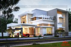 CREO HOMES have most experienced and professional interior designers and architects in Kochi(Cochin),Kerala. Our team of engineers and architects are highly talented and enthusiastic about building the perfect home for you at its best. Village House Design, Bungalow House Design, House Front Design, House Design Photos, Modern House Design, Indian House Exterior Design, Kerala House Design, Dream House Exterior, Dream House Plans