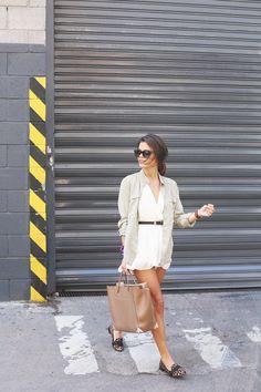 Seam for a desire - shirt & white dress