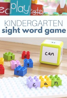 Kindergarten Sight Word Game - No Time For Flash Cards Kindergarten Sight Word Games, Preschool Sight Words, Teaching Sight Words, Literacy Games, Sight Word Activities, Homeschool Kindergarten, Preschool Activities, Early Literacy, Homeschooling