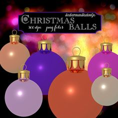 Christmas Ornaments Clipart traditional by ScubamouseStudiosJr, $2.00