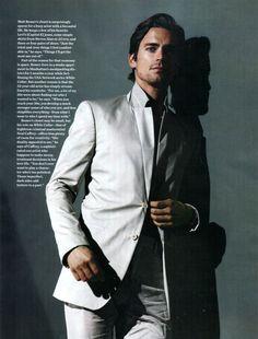 Sexiest Men Alive Network - Matt Bomer photo for Mens Health magazine wearing a white suit