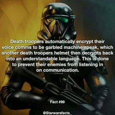 Star Wars Fact - Death Troopers