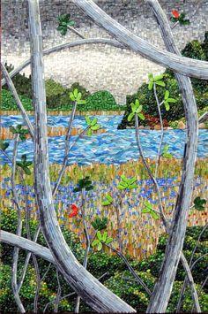 Pond with Irises - Terry Marshall