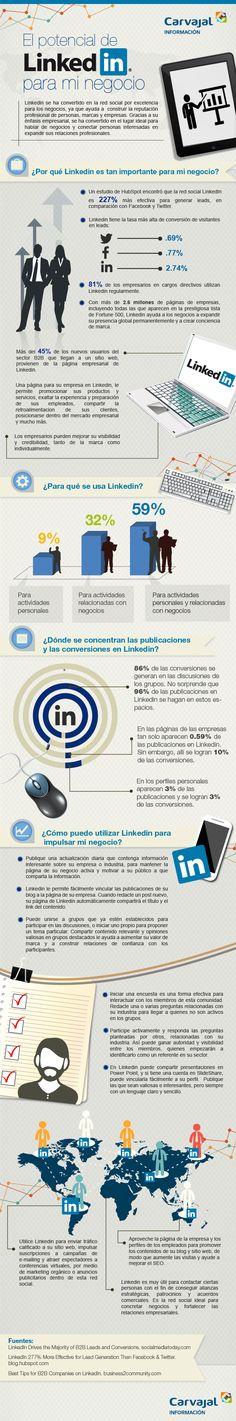 El potencial de Linkedin para tu negocio #infografia #infographic #socialmedia