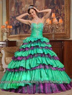 Grün Lilanes Sissi Kleid Ballkleid Weites Abendkleid