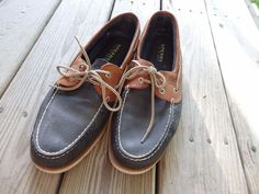 SPERRY TOP-SIDER Mako 2-eye Canoe Moc Boat shoes 12 M Amaretto leather #SPERRY #MocBoatshoes