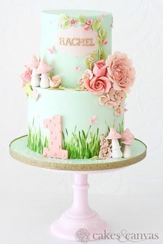 null You are in the right place about Birthday Cake for mom Here we offer you the most beautiful pictures about the simple Birthday Cake you are looking for. When you examine the nu Fairy Birthday Cake, 1st Birthday Cake For Girls, Baby Birthday Cakes, Fairy Garden Cake, Garden Cakes, Fairy Cakes, Garden Theme Cake, Torta Princess, Floral Cake